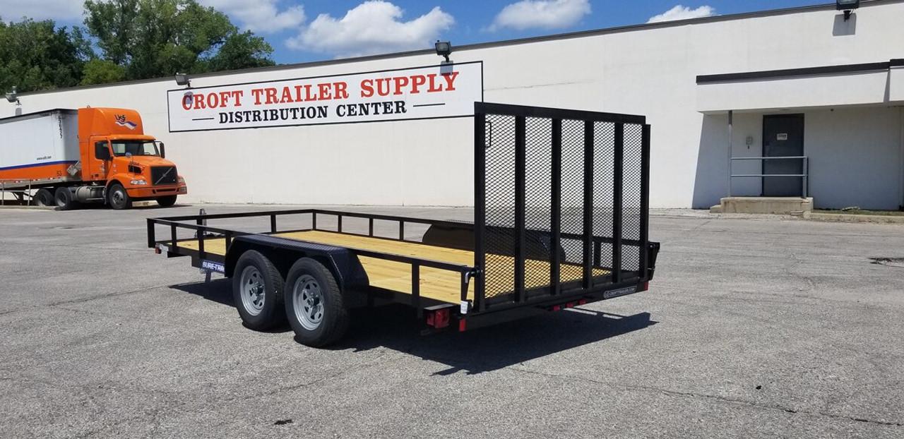 STR8216G-E2 --- 2021 Sure-Trac 82x16' Utility Trailer w/ Brakes - #ST4653