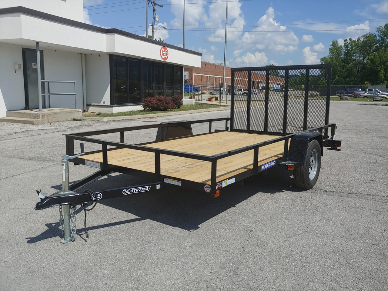 STR712G --- 2021 Sure-Trac 7'x12' Utility Trailer - #ST4785