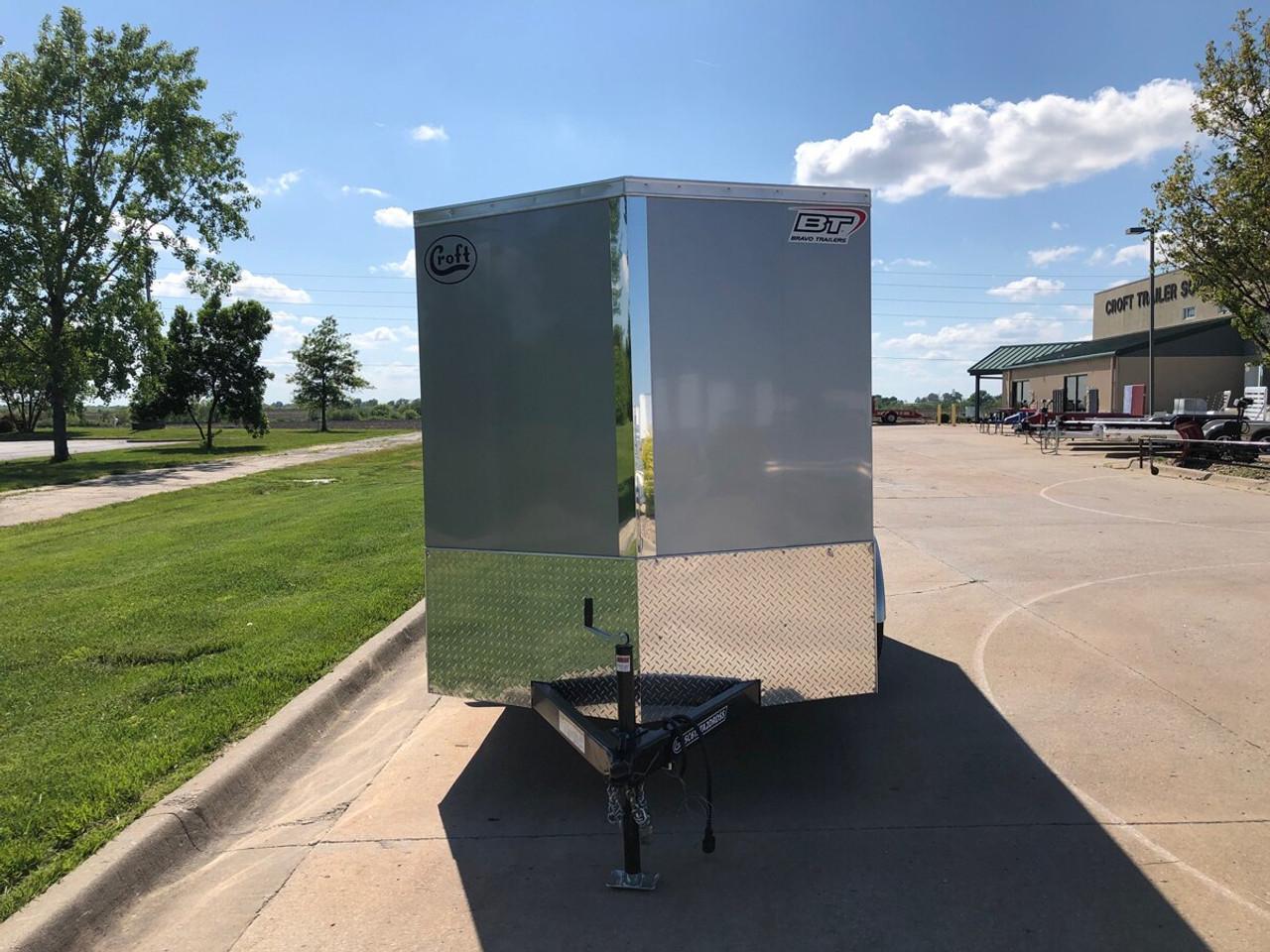 SC612TA2DRDSS --- 2021 Bravo 6'x12' SS Enclosed w/ Ramp Door #BR5092