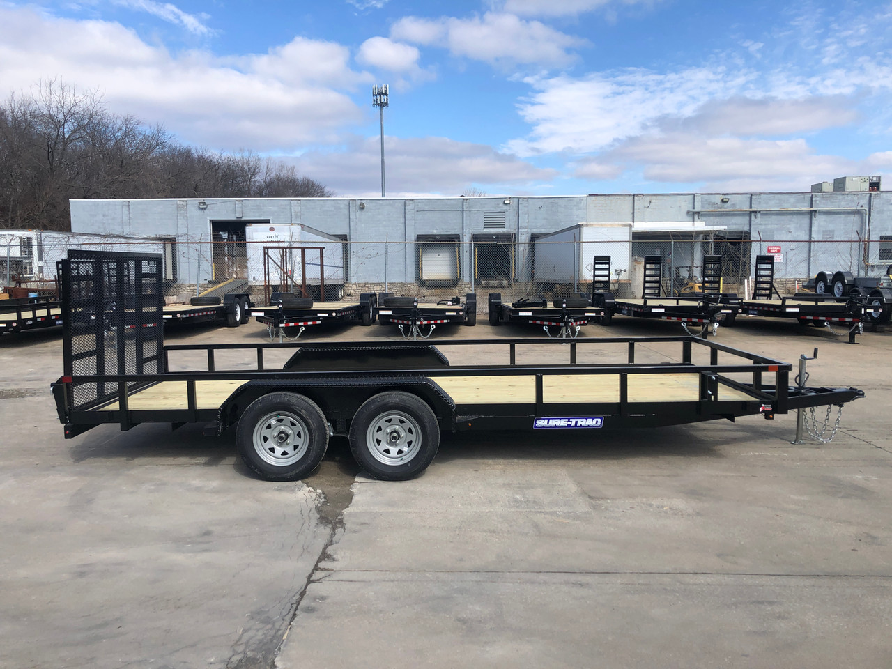 STR8218GT-E2 --- 2021 Sure-Trac 82x18' Tube Top Utility Trailer w/ Brakes #ST5108