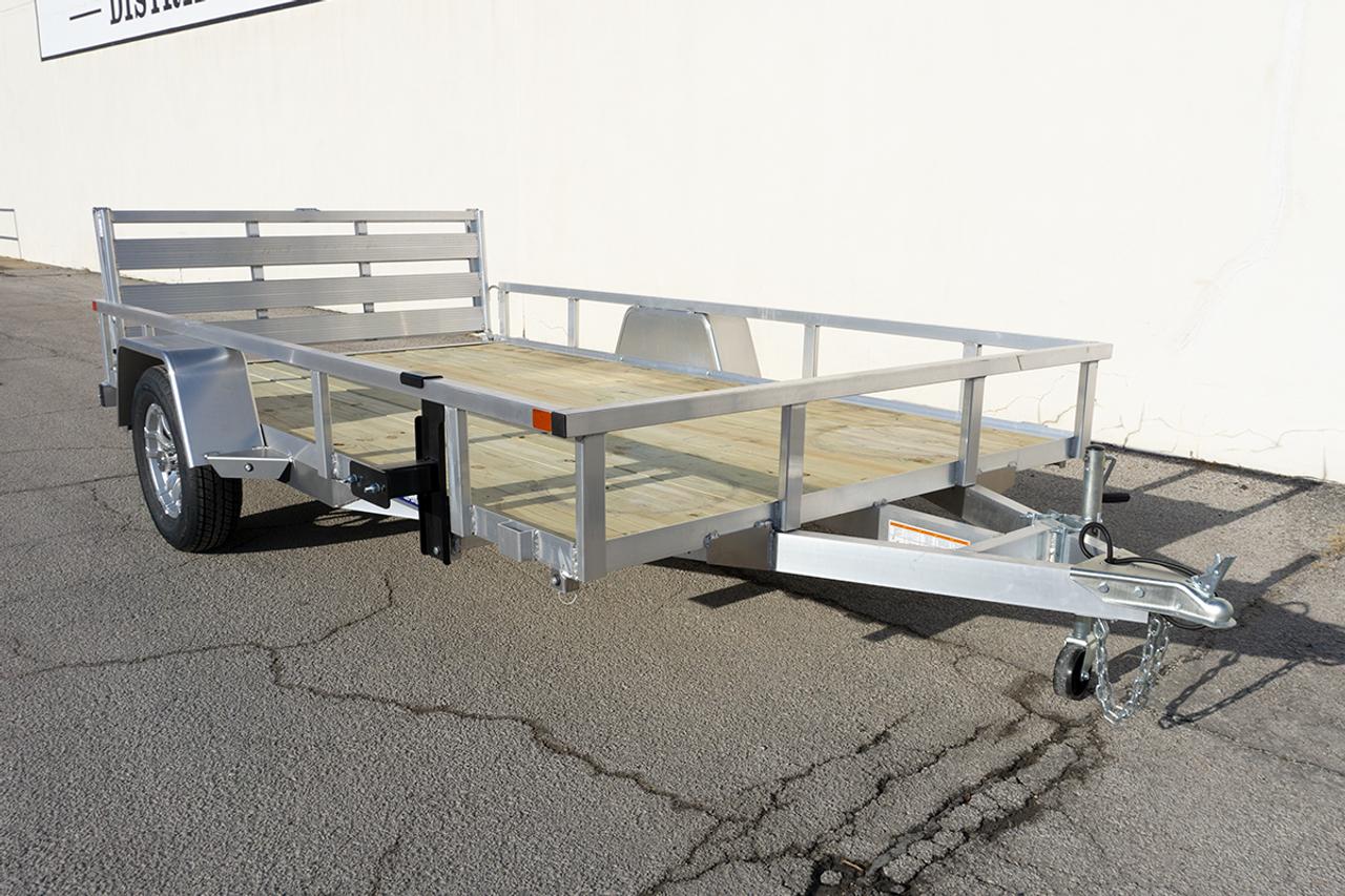 STR612GT-AL --- 2021 Sure-Trac 6'x12' Aluminum Tube Top Utility Trailer #ST2041
