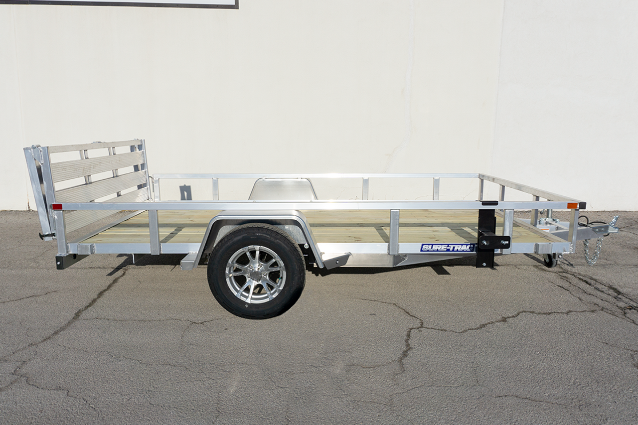 STR712GT-AL --- 2021 Sure-Trac 7'x12' Aluminum Tube Top Utility Trailer #ST2147