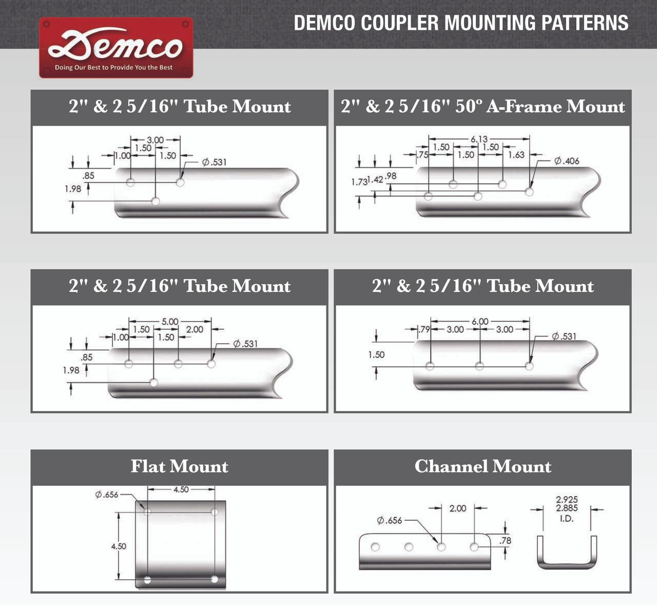 """15923-95 --- Demco Cast Plate-Mount 2-5/16"""" Coupler - 21,000 lb Capacity - Zinc"""