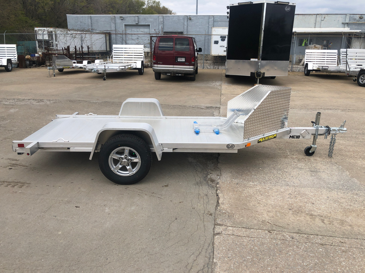ALMC10 --- 2021 Aluma 51x10' Single Bike Hauler #AL5898