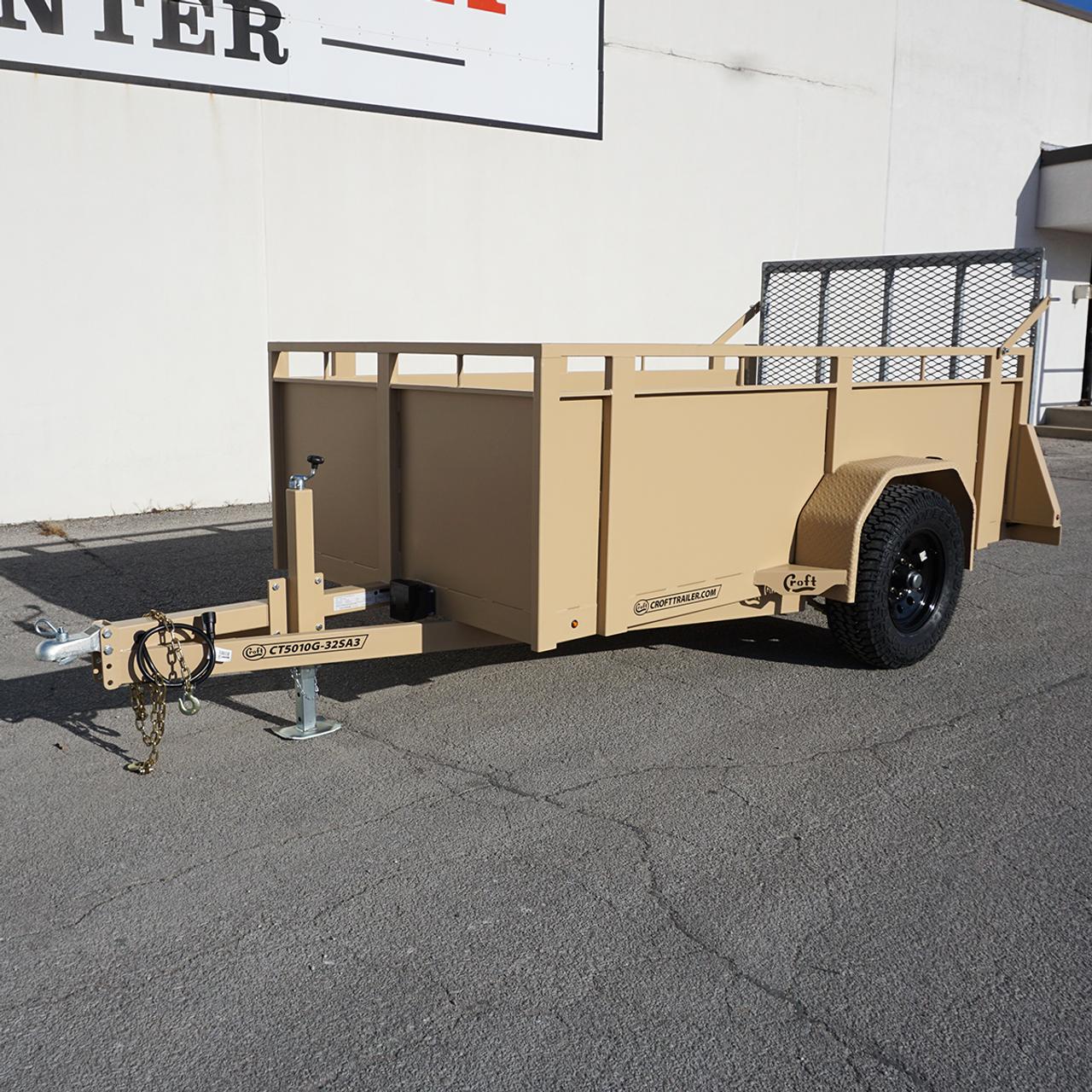 CT5010G-32SA3 --- 2021 Croft 5'x10' High Side Utility Trailer #CT5960