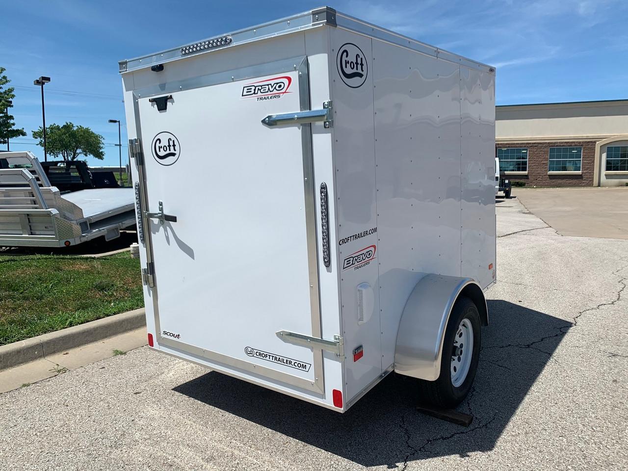 SC58SA --- 2021 Bravo 5'x8' Enclosed w/ Rear Barn Door #BR6899