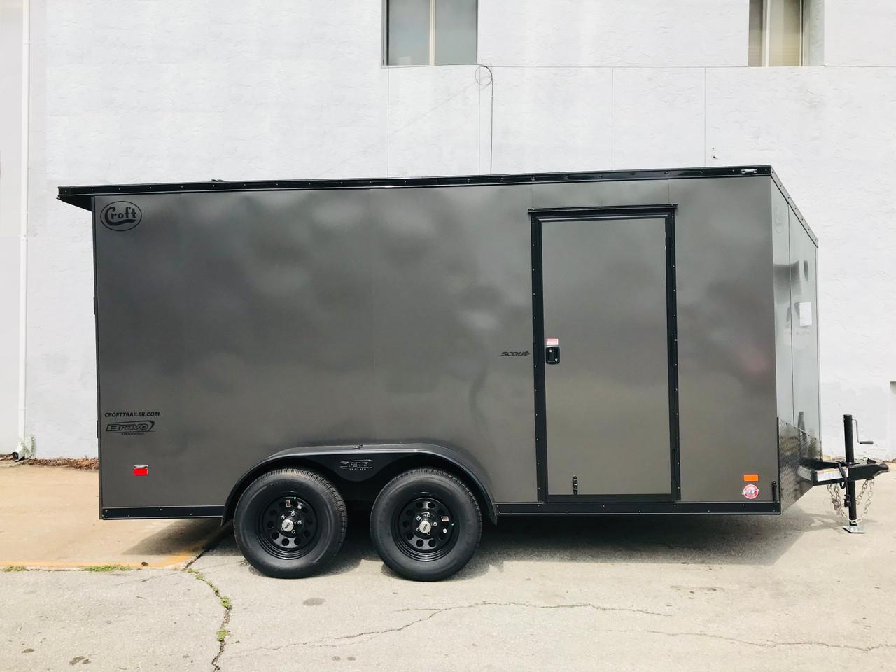 SC714TA2DRDMN --- 2022 Bravo 7'x14' MN Enclosed w/ Ramp Door - MIDNIGHT EDITION! #BR7123