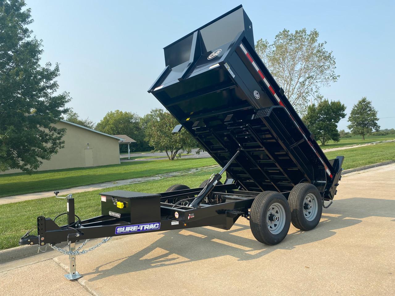 STD7210TA3 --- 2021 Sure-Trac 72x10' Low Pro Dump Trailer- 10k #ST6358