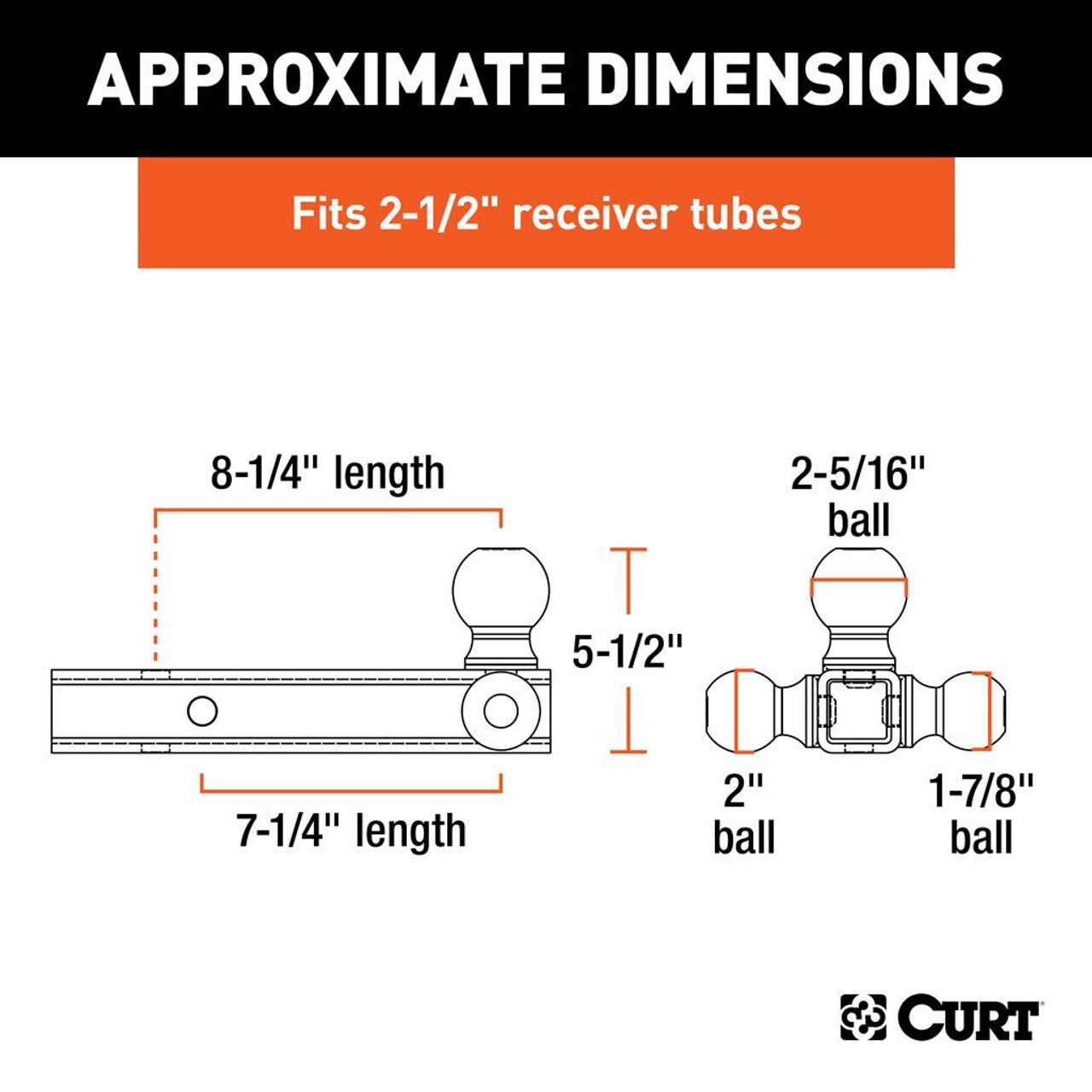 "45651 --- 2.5"" Ball Mount, Tri-Ball Combination"