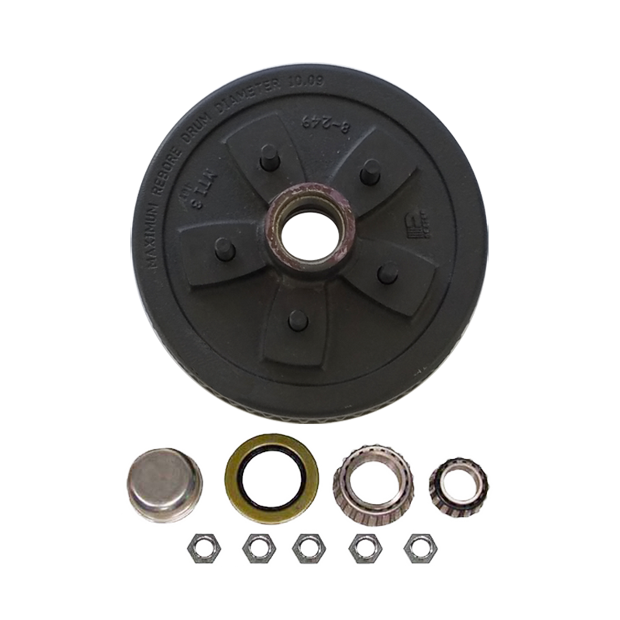 """1-550UHI-HD --- 5 on 5"""" Hub and Drum Assembly for 10"""""""