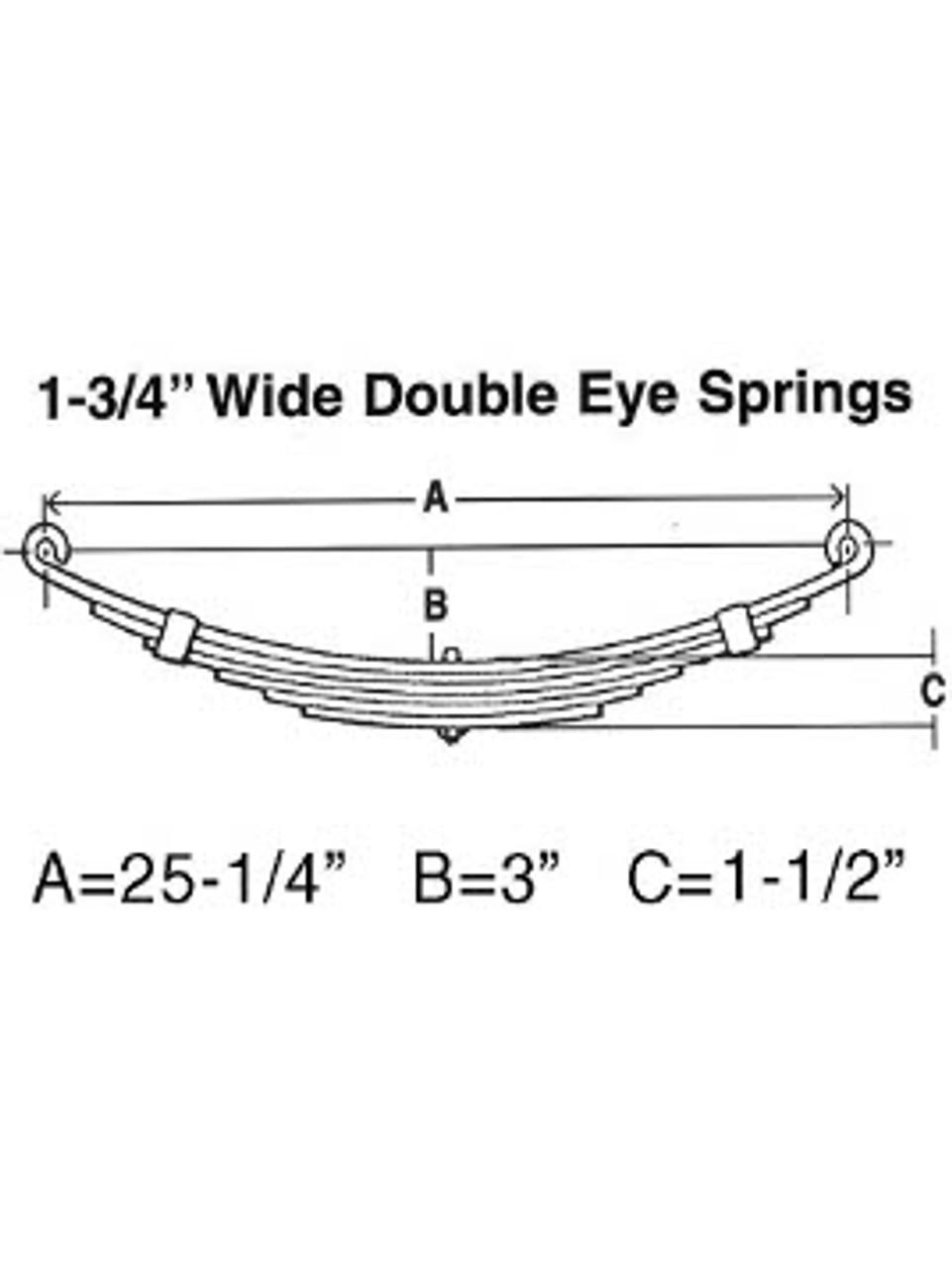 "SW6 --- Leaf Spring - 1-3/4"" Wide Double Eye - 6.6k per pair"