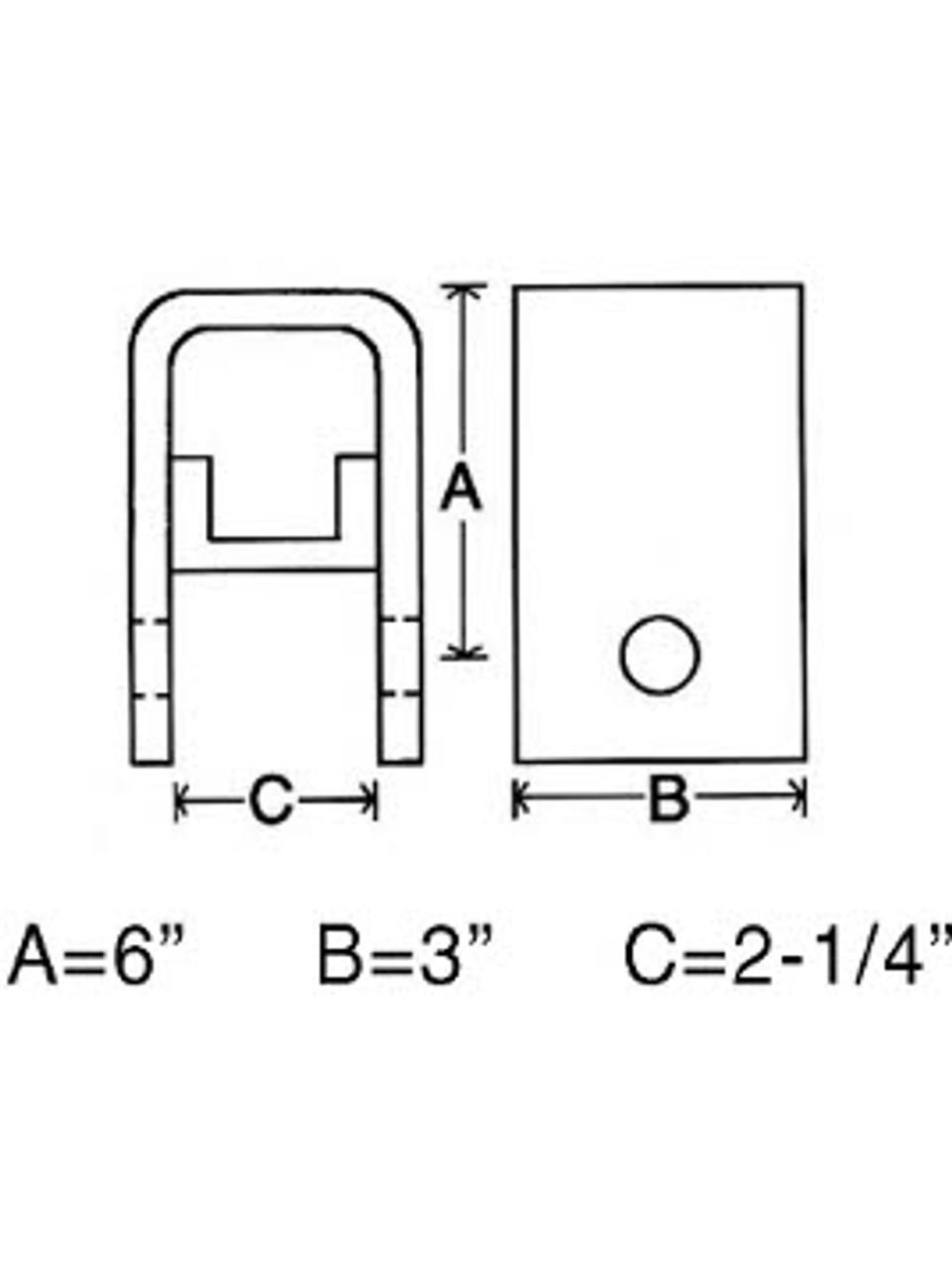 RH3061 --- Rear Slipper Hanger - Standard Duty