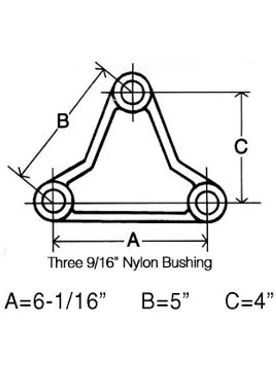 """TE1310 --- Triangular Equalizer Bar for 1-3/4"""" Wide Double Eye Springs"""