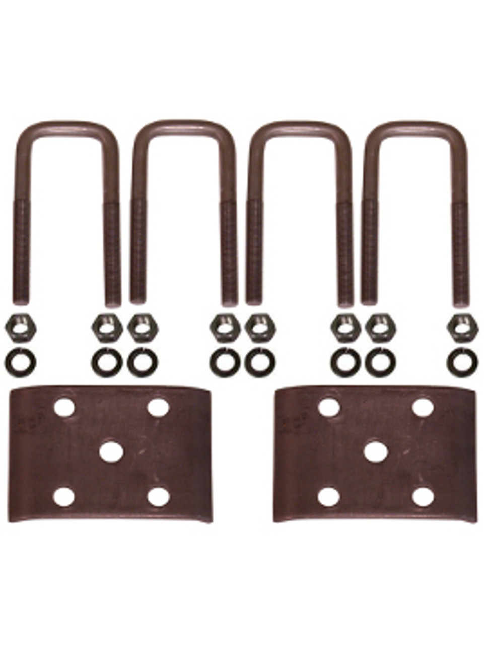 """USP250 --- 2"""" Square U-Bolts and Axle Plates for 2"""" Wide Springs"""