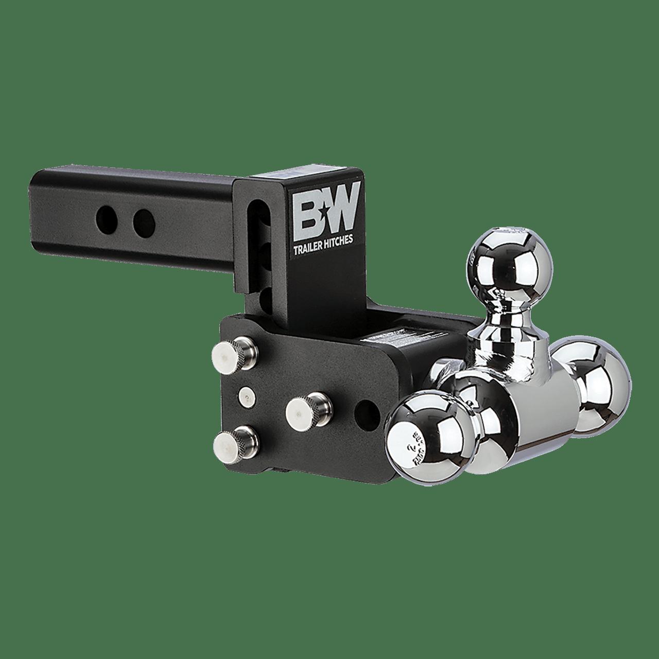 "QD10047B --- B&W 2"" Shank Tow and Stow Adjustable Tri-Ball Mount, 3"" Maximum Drop"