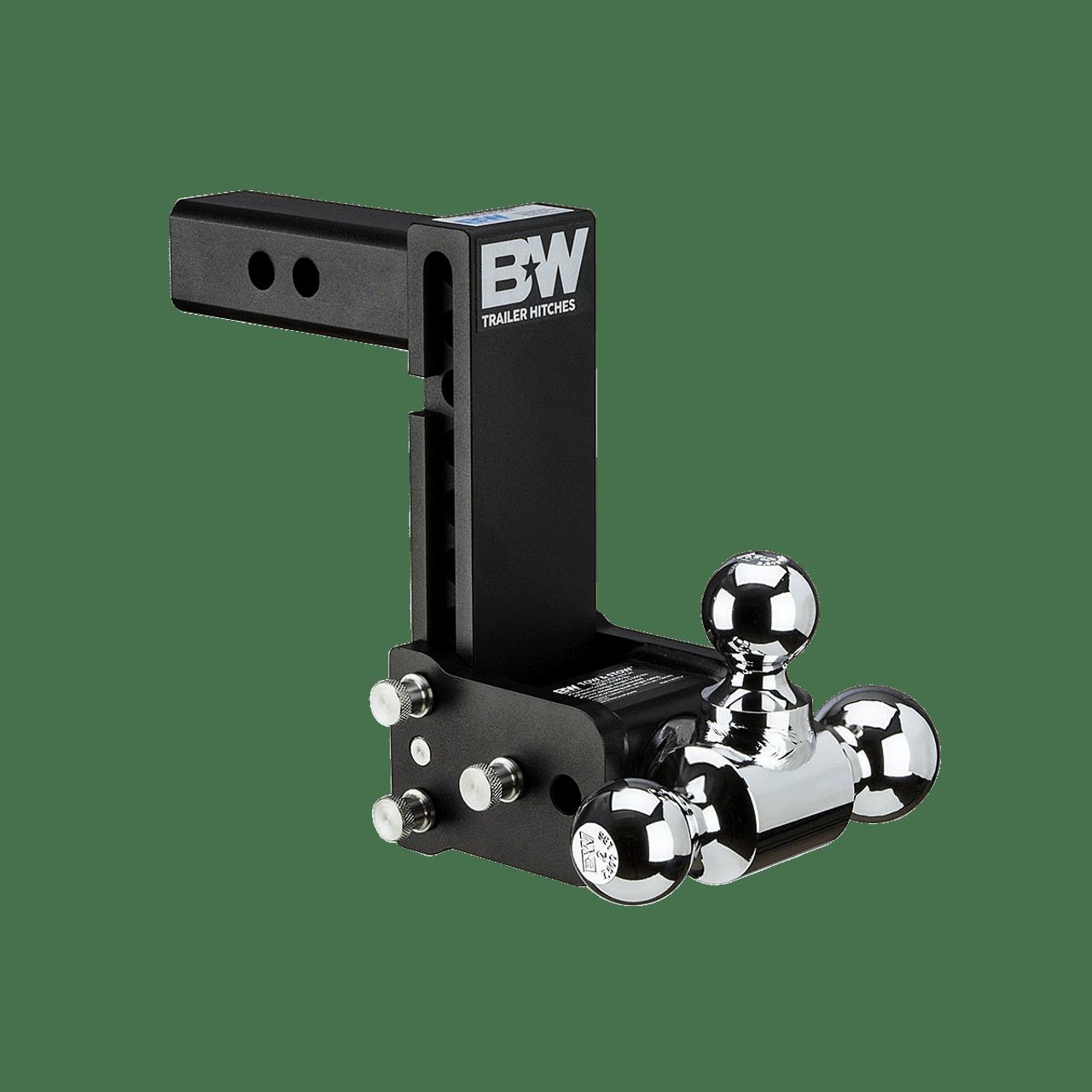 "QD10049B --- B&W 2"" Shank Tow and Stow Adjustable Tri-Ball Mount, 7"" Maximum Drop"