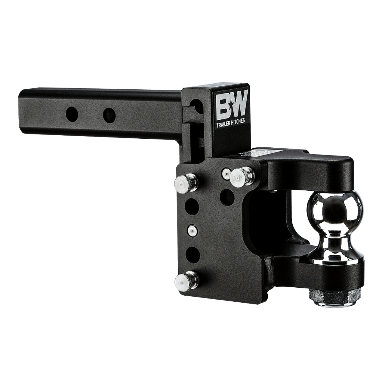 "QD10055 --- B&W 2"" Shank Adjustable Pintle Hook with 2"" Ball"