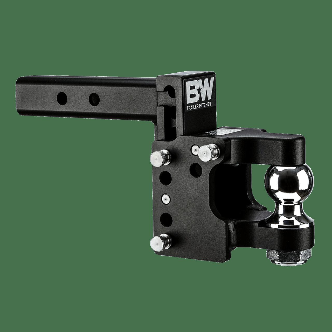 "QD10055 --- B&W 2"" Shank Adjustable Pintle Hook with 2"" Ball"