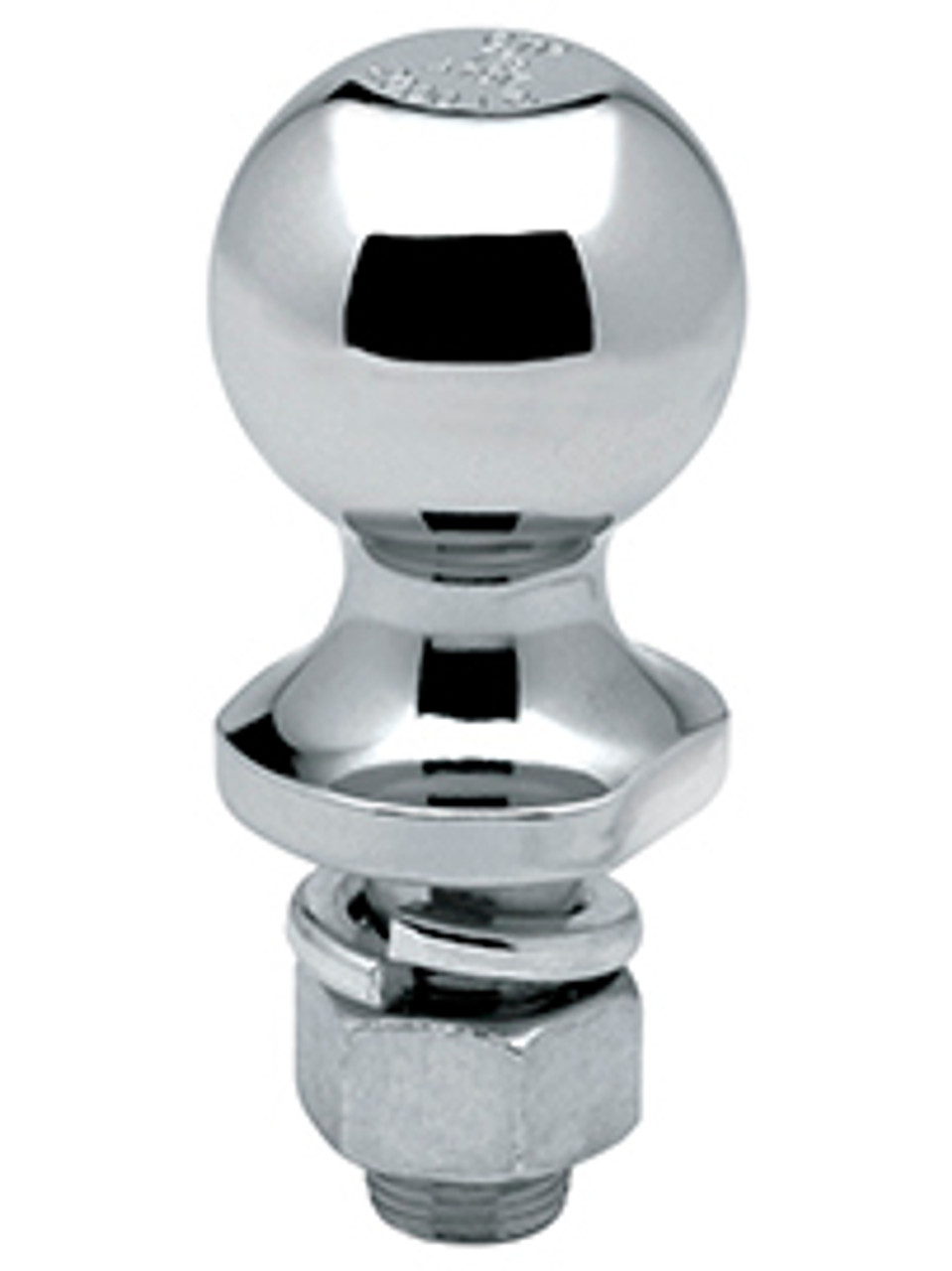 "LCA178 --- 1-7/8"" Hitch Ball with long shank, 2,000 lb Capacity, Chrome Finish"