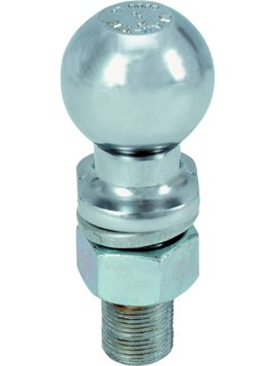 "4121 --- 1-7/8"" Hitch Ball with extra long shank, 2,000 lb Capacity, Zinc Finish"