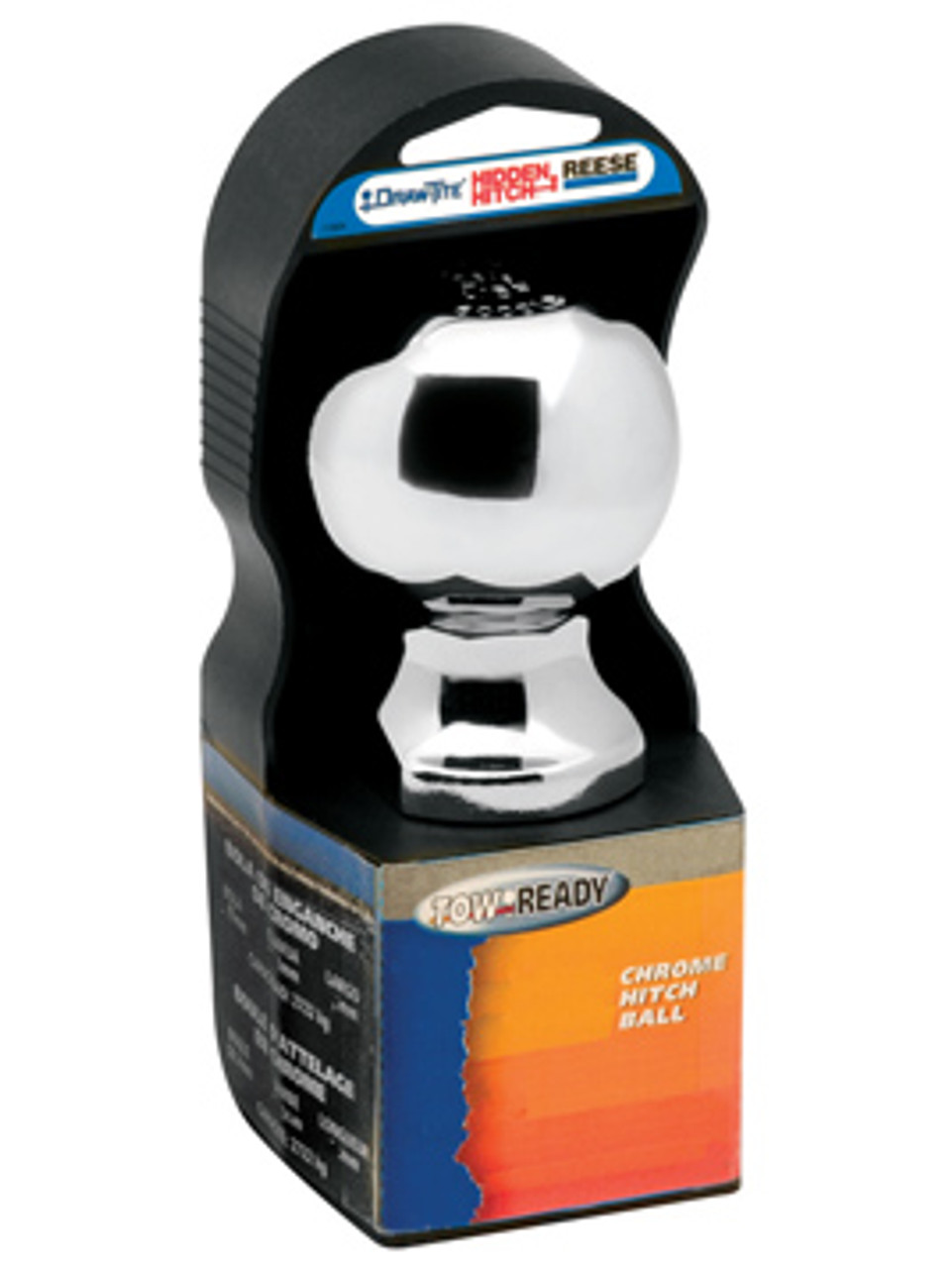 """3576 --- 2"""" Hitch Ball, 3,500 lb Capacity, Chrome Finish, Display Packaged"""