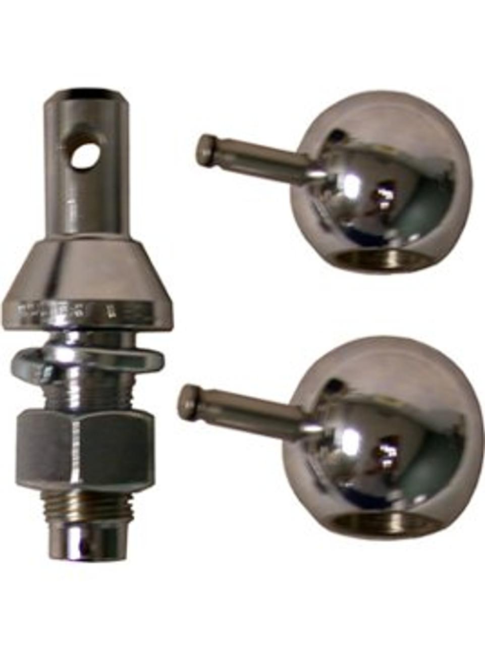 "800B --- Convert-A-Ball Kit, 3/4"" Nickel Regular Shank plus 1-7/8"" and 2"" Nickel Hitch Balls"