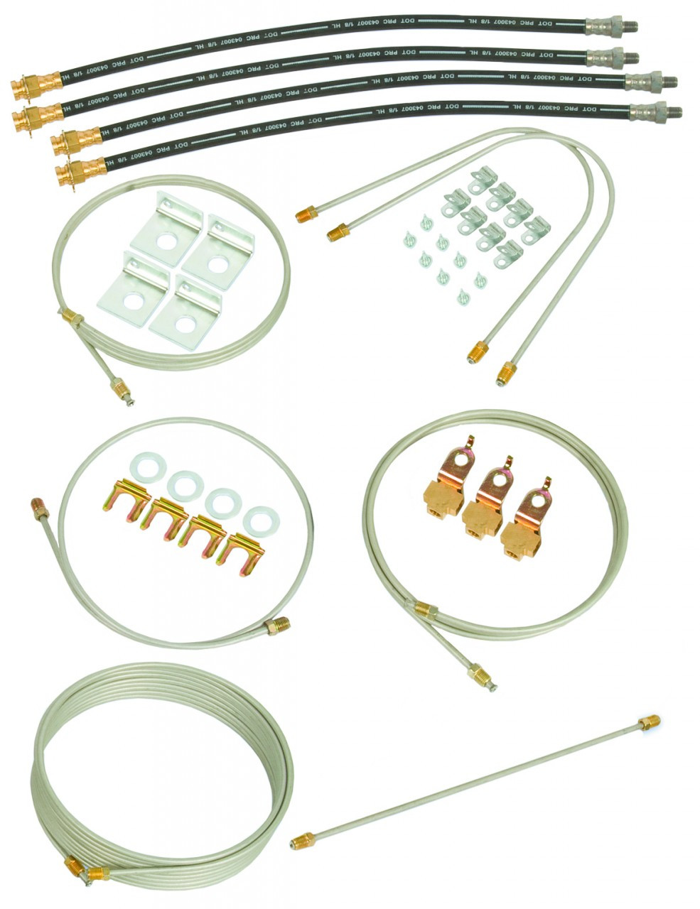 80893 --- Hydraulic Brake Line Kit for Torsion Tandem Axle Trailer