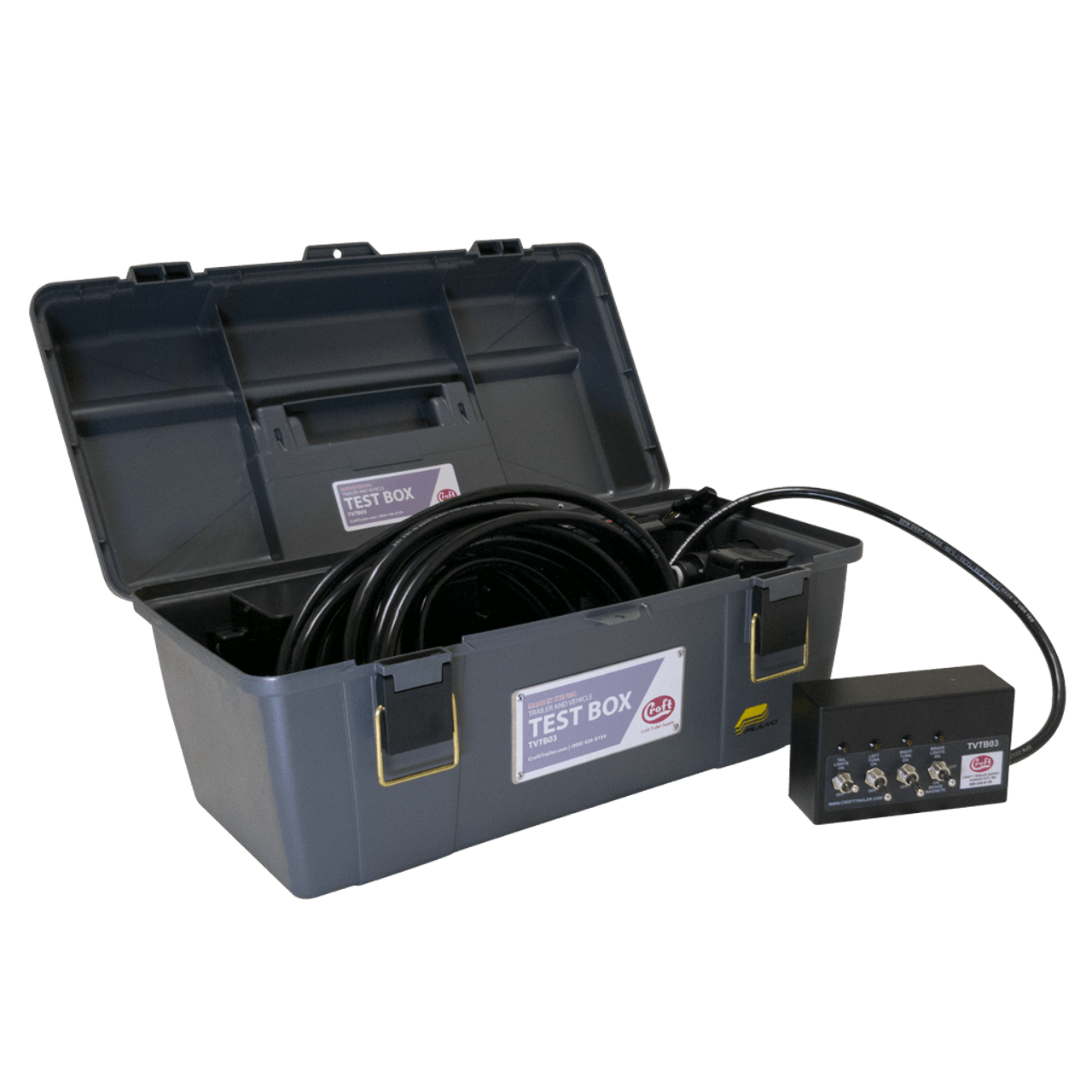 TVTB03 --- Trailer and Vehicle Test Box -  Lights, Electric Brakes, and Vehicle Connector