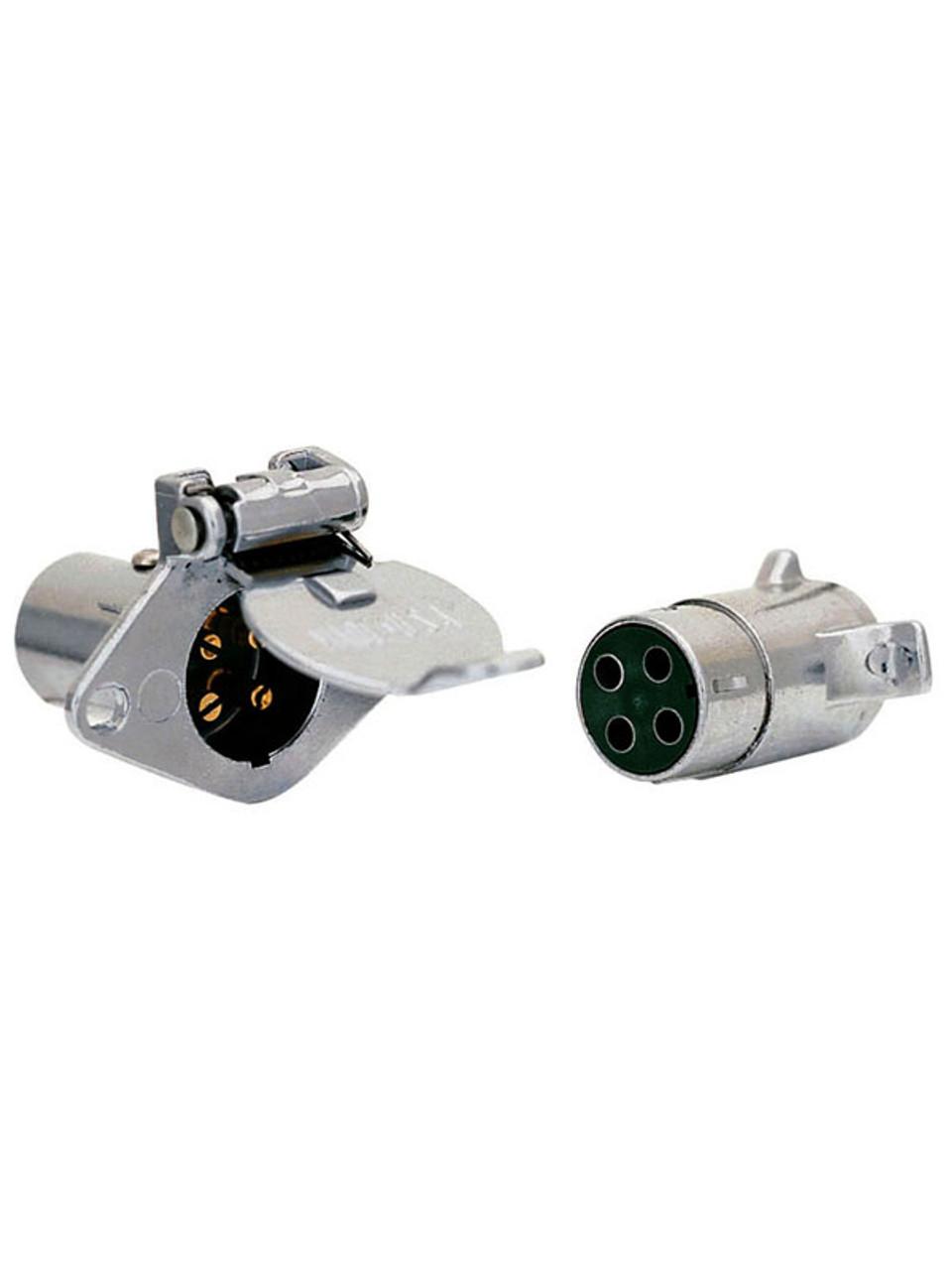 215 --- 4-Way Round Chrome Socket and Plug