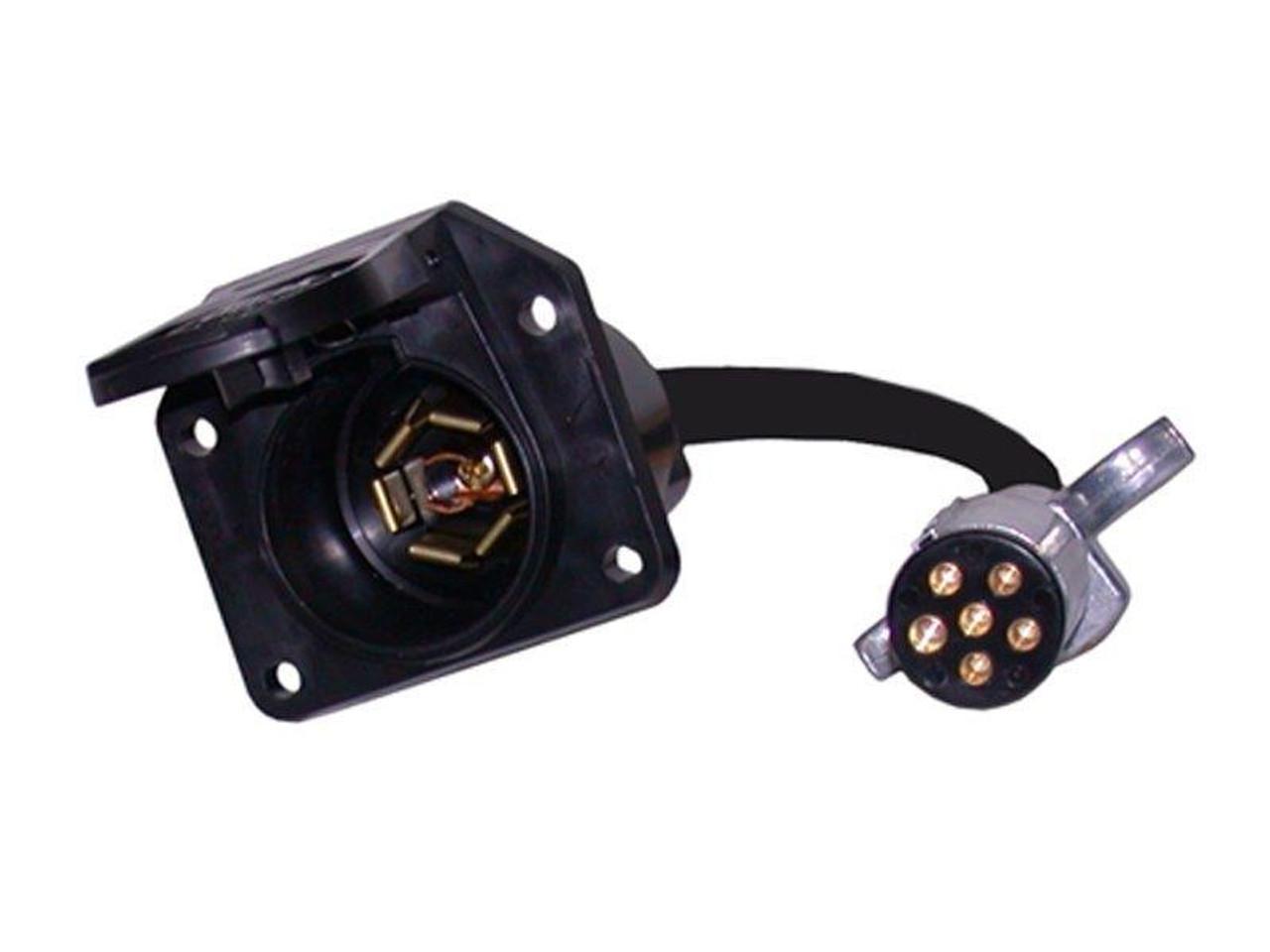 603PW/77S --- 6-Way Round to 7-Way Flat Pin Adapter