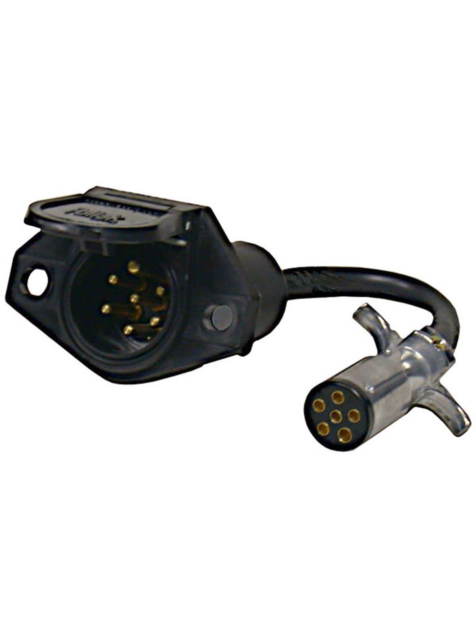 603PW/87S --- 6-Way Round to 7-Way Round Pin Adapter