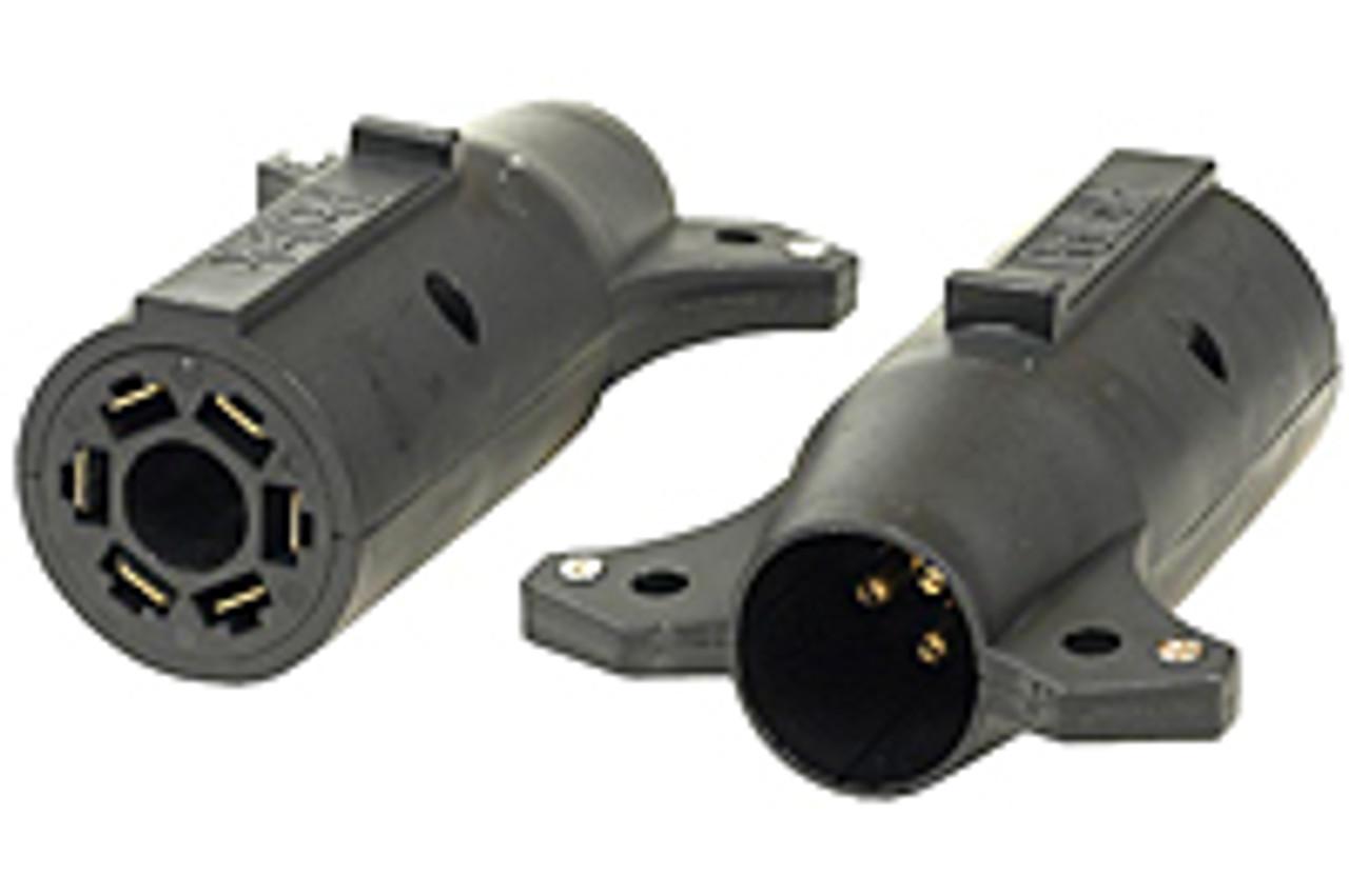 18160 --- 7-Way Flat Pin to 6-Way Round Adapter