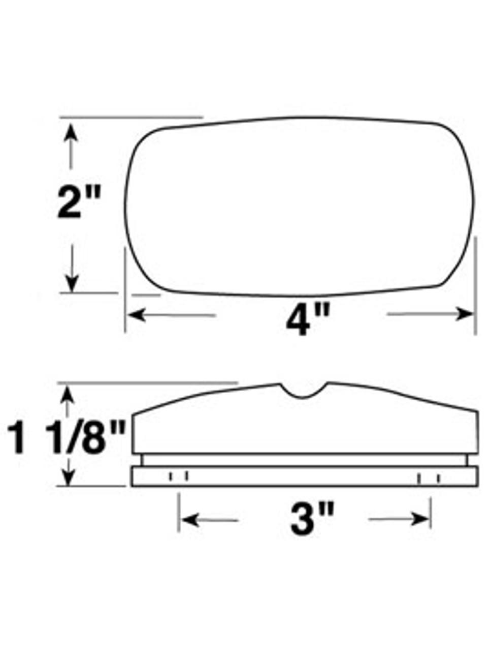 V138R --- Double Bulls Eye Clearance/Side Marker Light