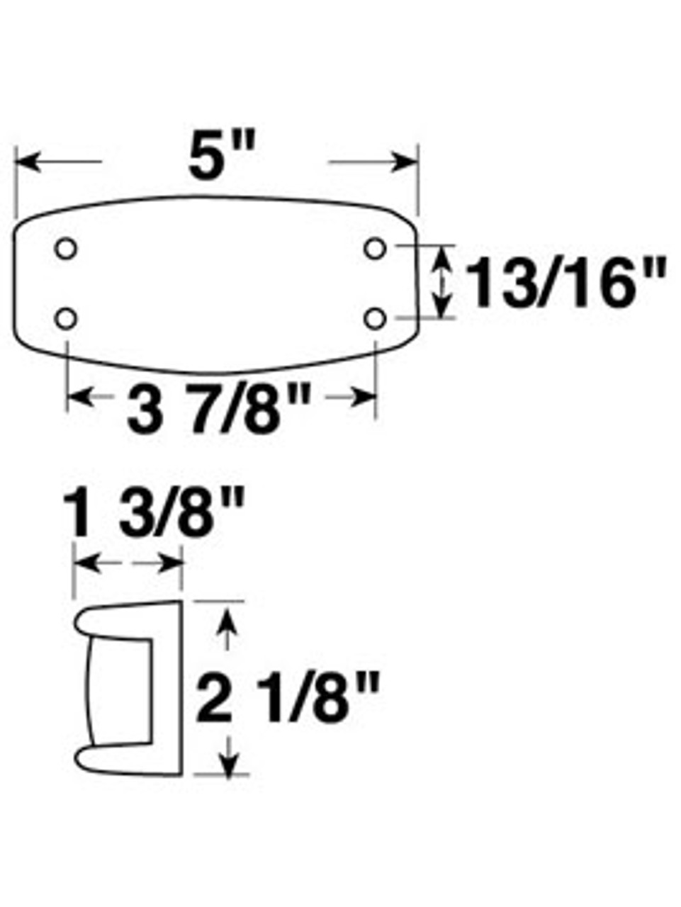 123R --- Rectangular Clearance/Side Marker Light