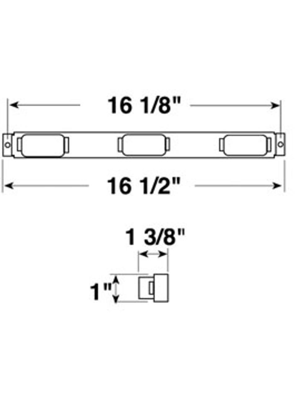 107-3R --- Red Mini-Light Identification Light Bar