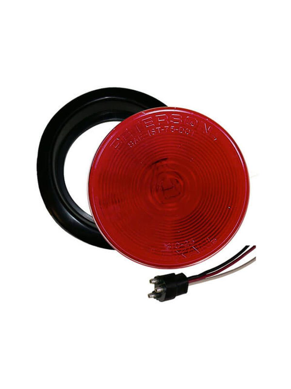 "426KR --- Round 4"" Sealed Tail Light Kit - Red"