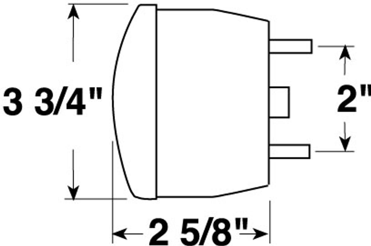 428W --- Stud Mount Round Tail Light with License Illuminator