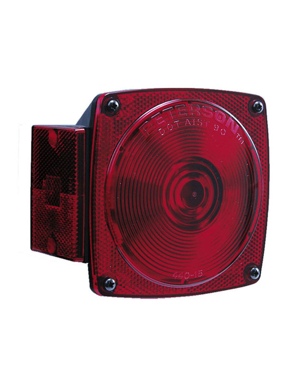 "440 --- Square Combination Right Tail Light - For Under 80"" Wide Trailer"