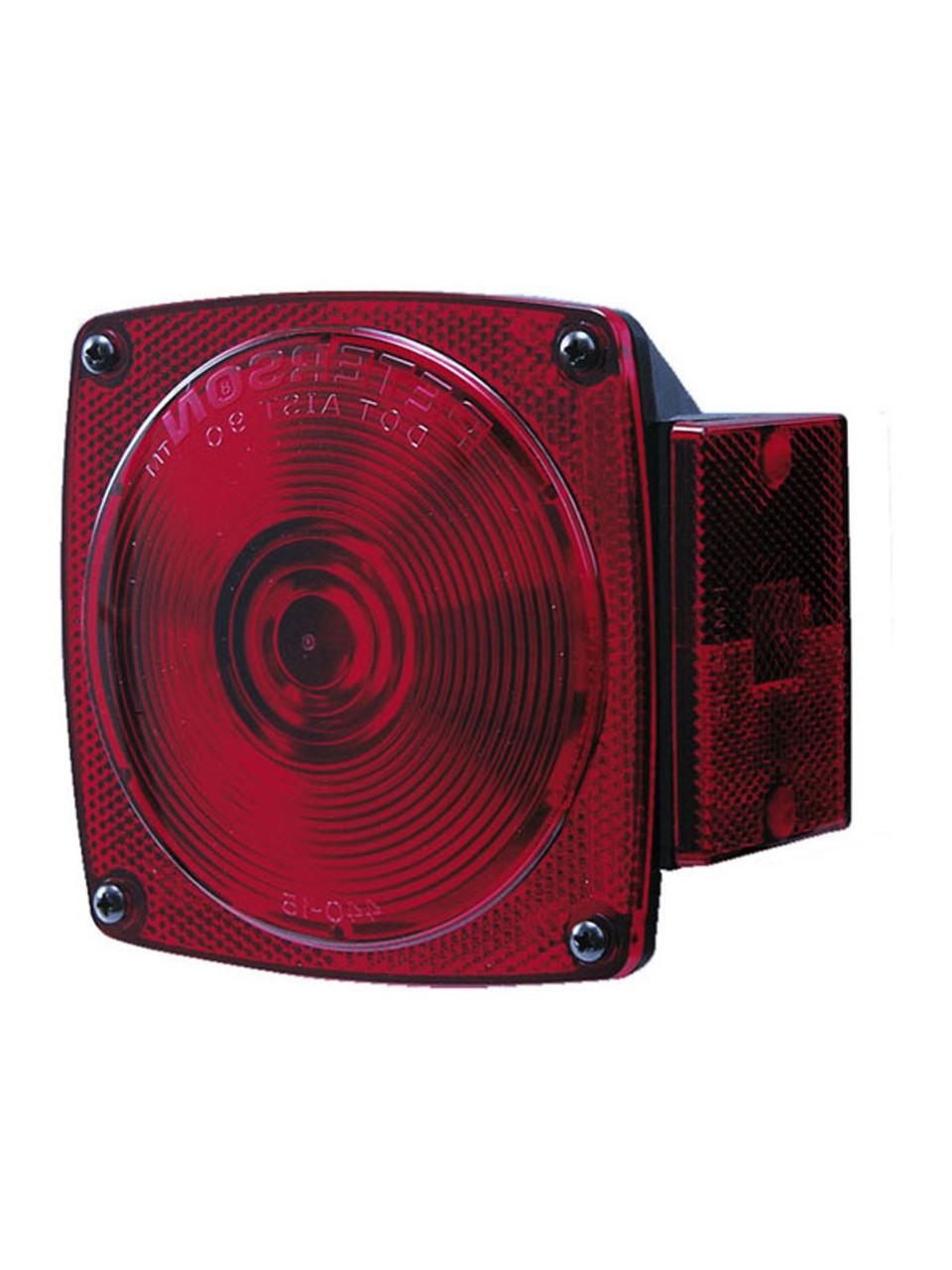 """440L --- Square Combination Left Tail Light - For Under 80"""" Wide Trailer"""