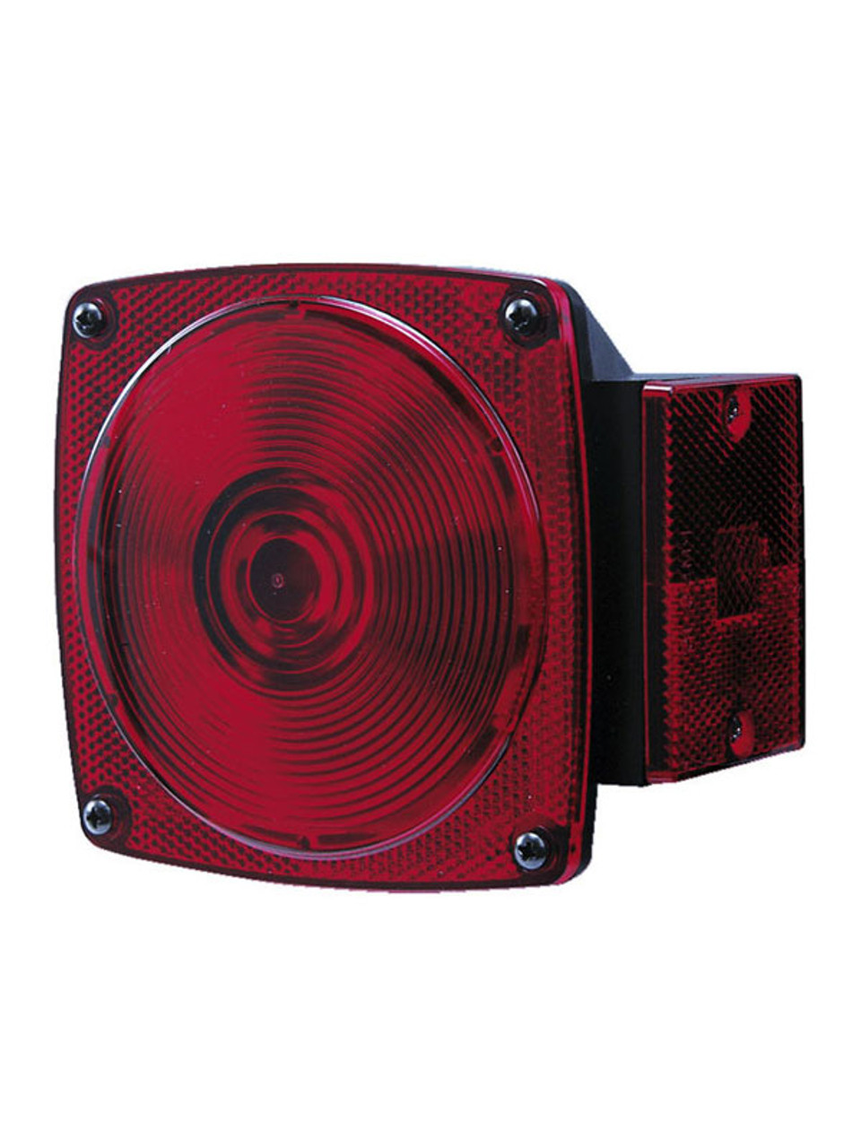 "441L --- Submersible Square Combination Left Tail Light, License Illuminator, Side Marker - For Under 80"" Wide Trailer"