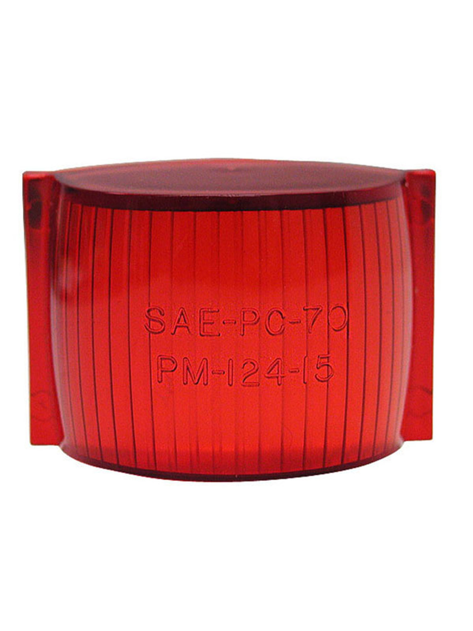 124-15R --- Peterson Replacement Red Rectangular  Lens