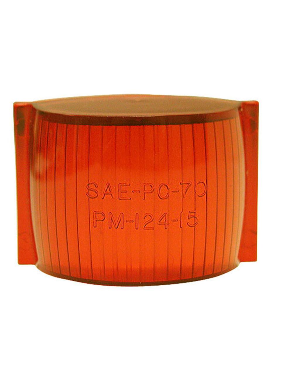 124-15A --- Peterson Replacement Amber  Rectangular  Lens