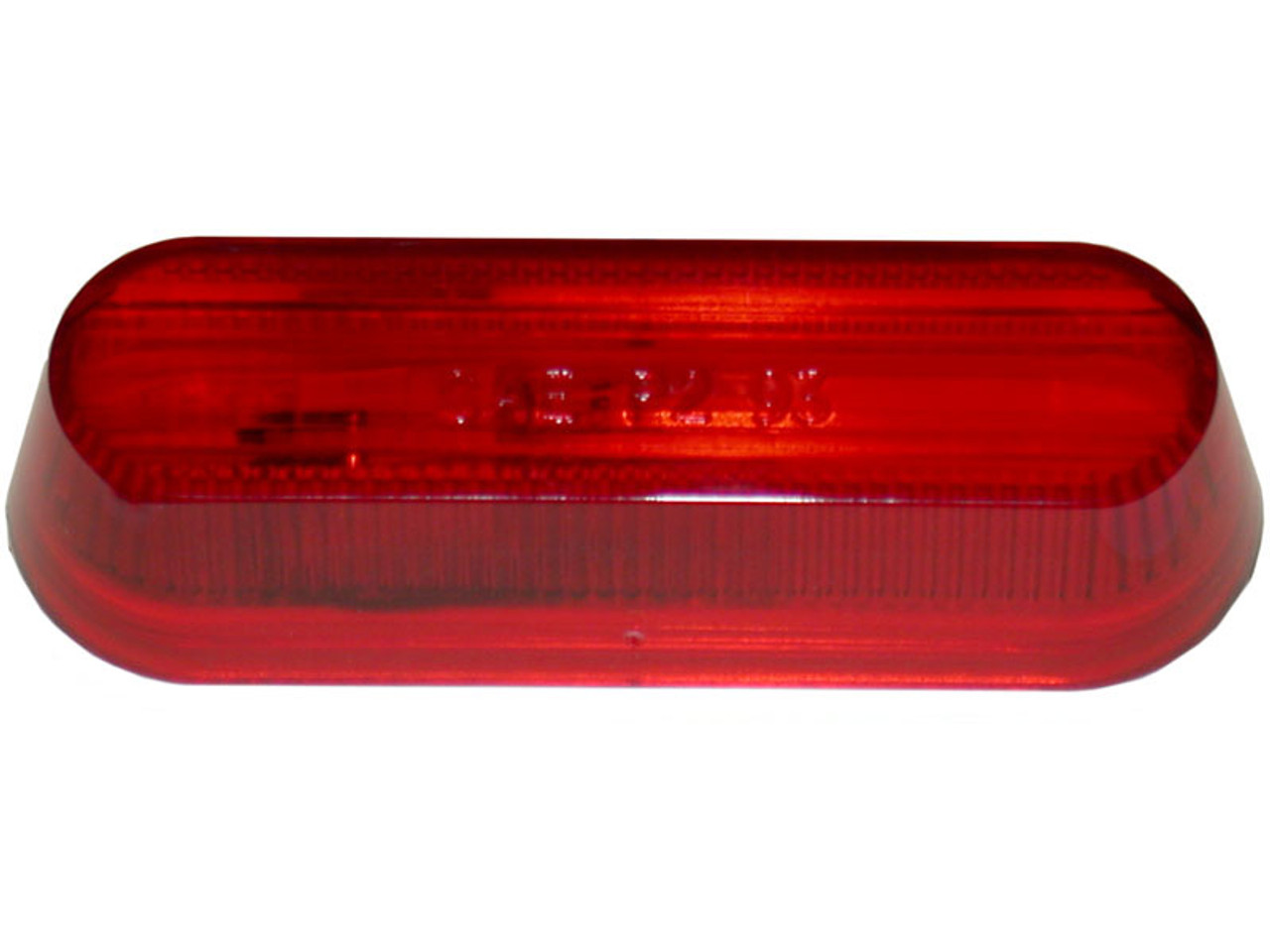 136-15R --- Peterson Replacement Red Oblong  Lens