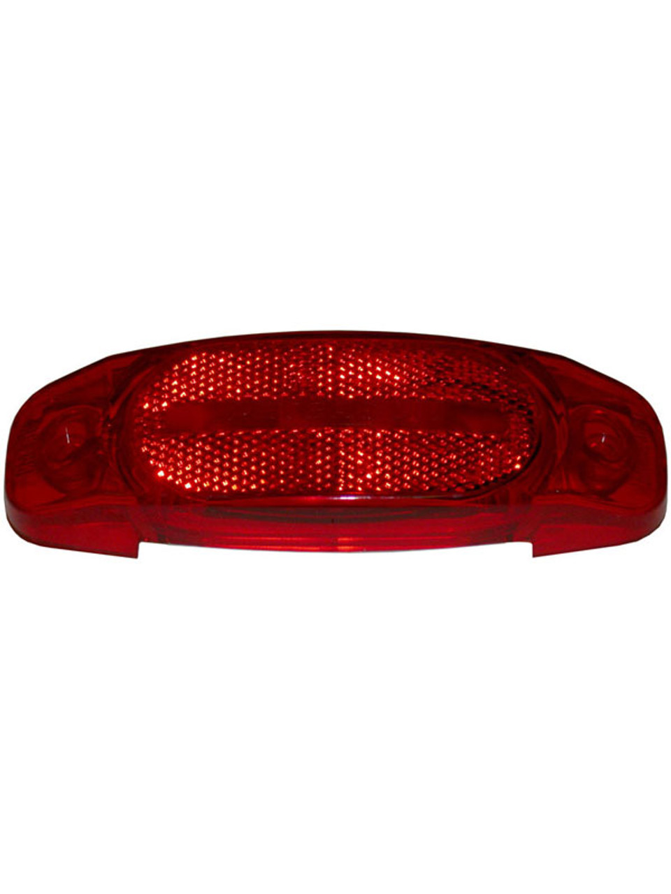 130-25R --- Peterson Replacement Red Oval Lens with Reflector