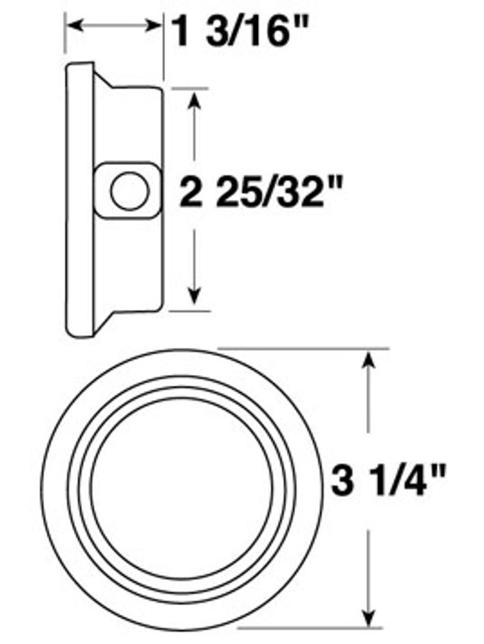 "143-18 --- Peterson 2-1/2"" Round Replacement Flush Mount Grommet"