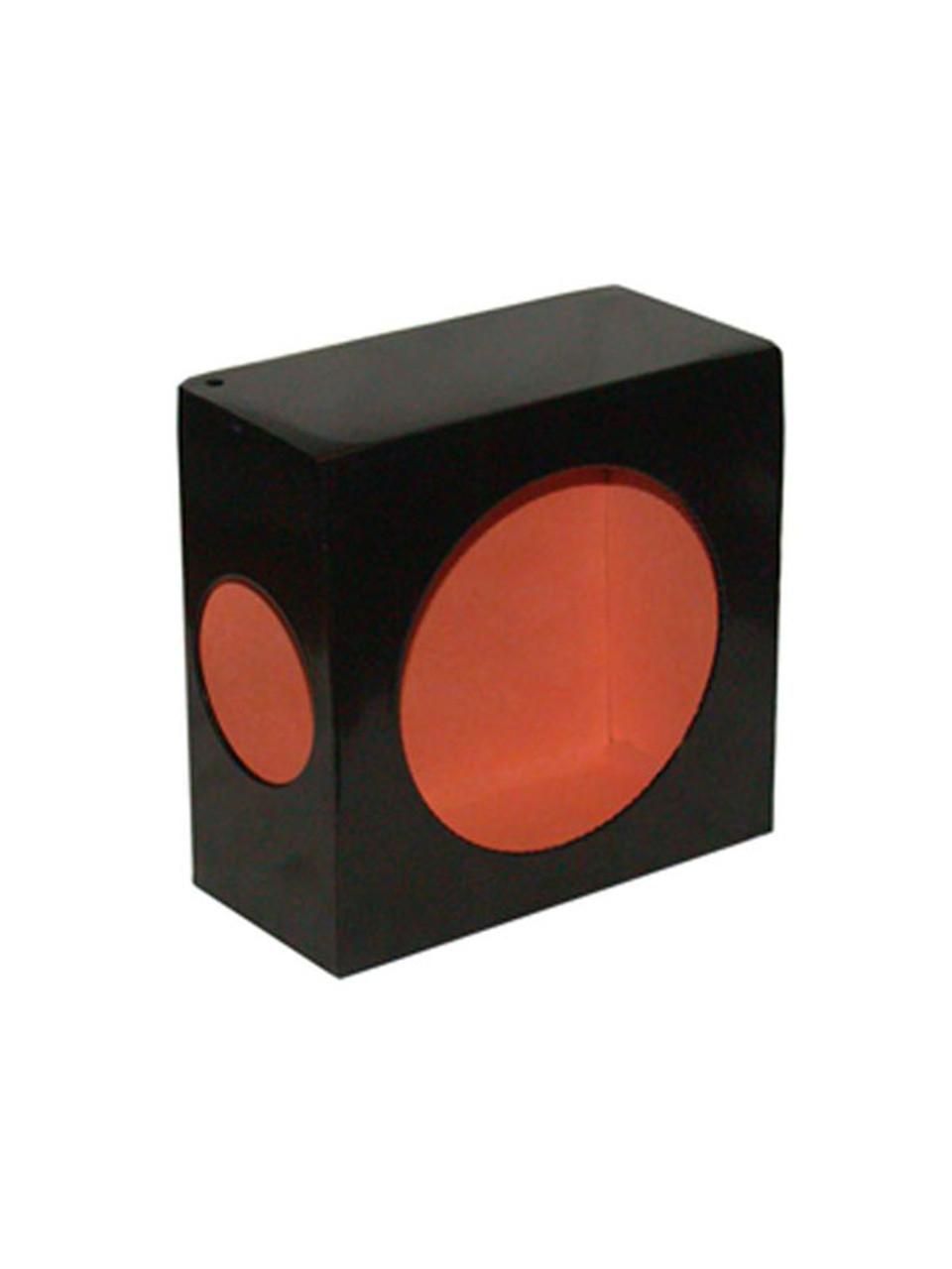 LB663SL --- Black Round Tail Light Guard Box  with Side Light