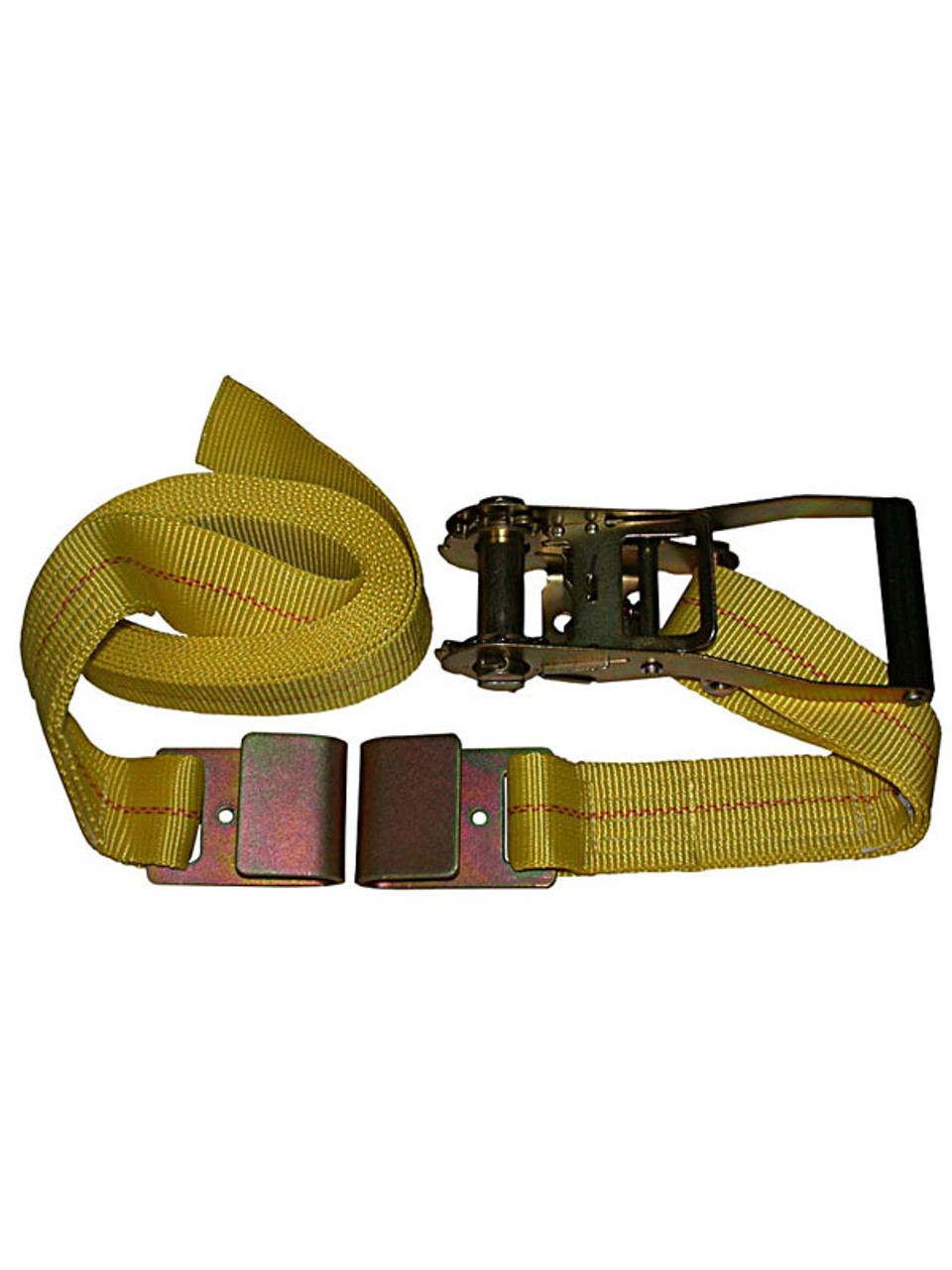 "HD-30FT --- Heavy Duty Tie Down Strap with Ratchet - Flat Hook End Fittings - 2"" x  30'"
