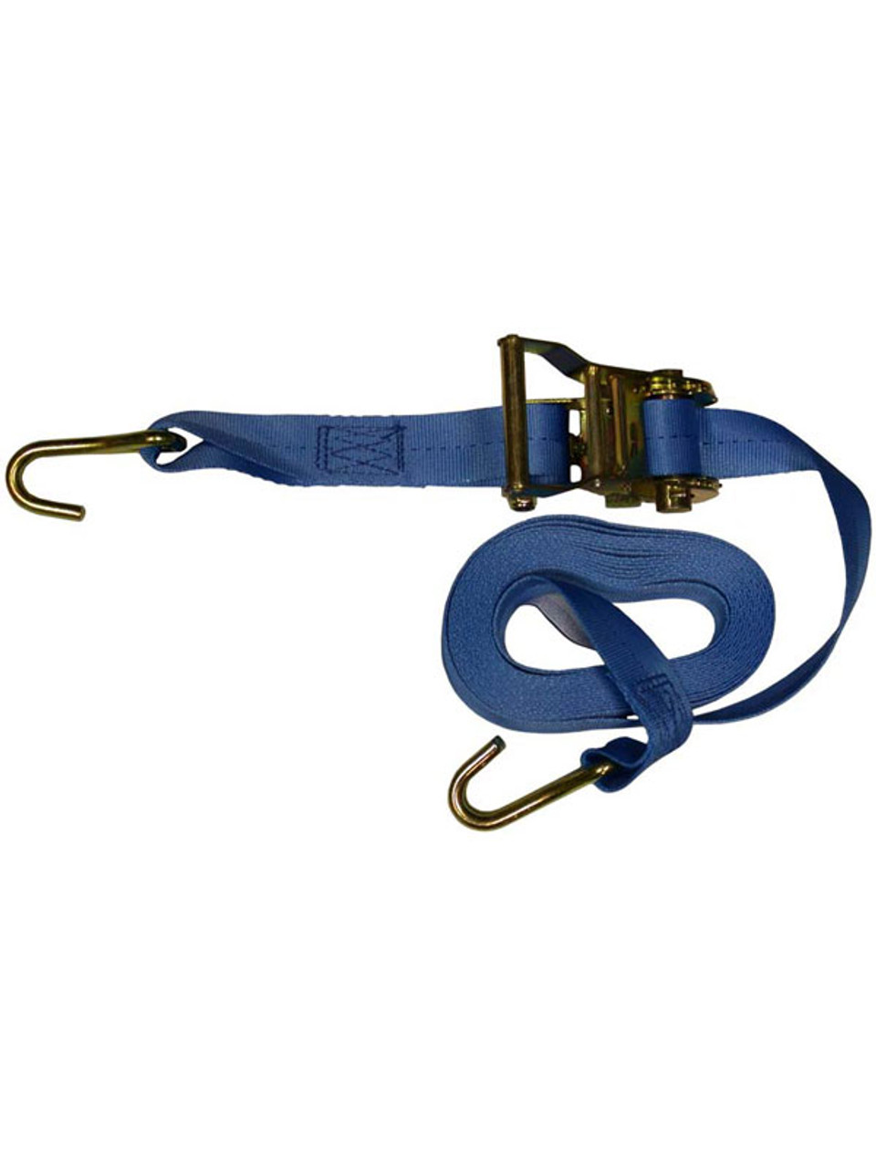 "RTS-13820 --- Standard Duty Tie Down Strap with Ratchet - J Hook End Fittings - 1-3/8"" x 20'"