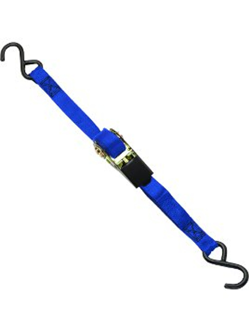 "RTS-114 --- Standard Duty Tie Down Strap with Ratchet - S Hook End Fittings - 1"" x 15'"