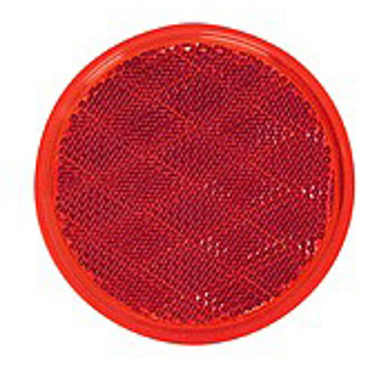 475R --- Round Red Reflector - Quick Mount